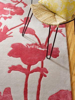 Florence Broadhurst rug Floral 300 Poppy