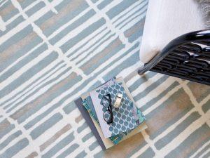 Florence Broadhurst rug Tortoiseshell Stripe Jade