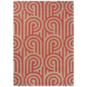 Florence Broadhurst rug Turnabouts Claret