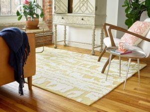 Florence Broadhurst rug Waterwave Stripe Pearl