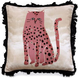 My Friend Paco cushion Fat Cat Pink