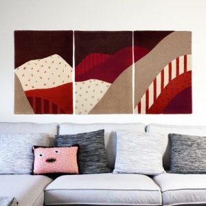 My Friend Paco Ho Chi Minh triptych wall rug