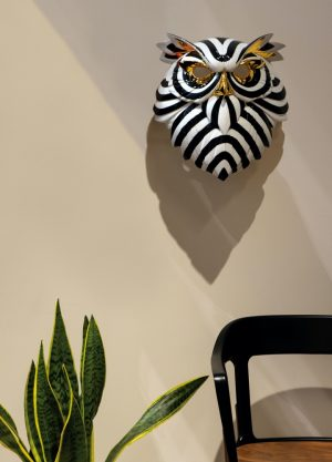 Lladró decorative mask Owl