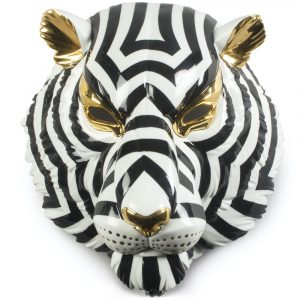Lladró decorative mask Tiger