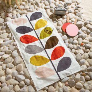 Orla Kiely beach towel Multi Stem