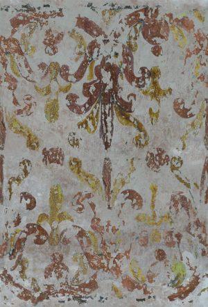 Casamance panoramic wallpaper panel Chez les Grecs ocre