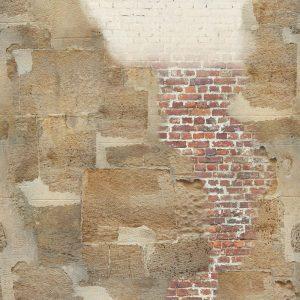 Casamance panoramic wallpaper panel Contes beige