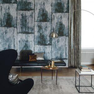 Casamance wallpaper Cuirasse de Cuivre blue