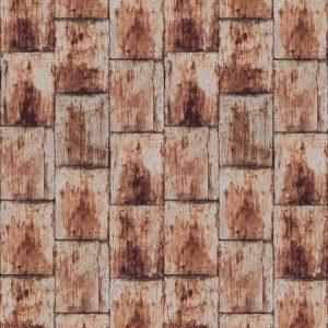 Casamance wallpaper Cuirasse de Cuivre rouille