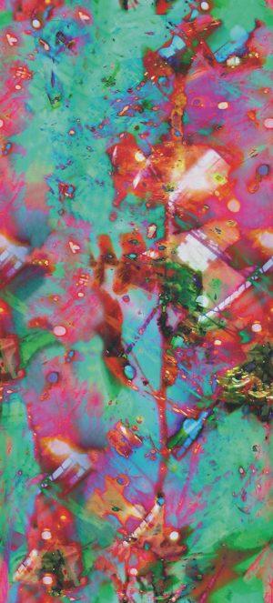 Casamance panoramic wallpaper panel Evasion Galactique