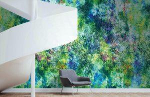 Casamance panoramic wallpaper panel Eyjafjoll multi
