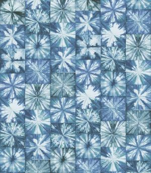 Casamance wallpaper Fleurs Boreales blue