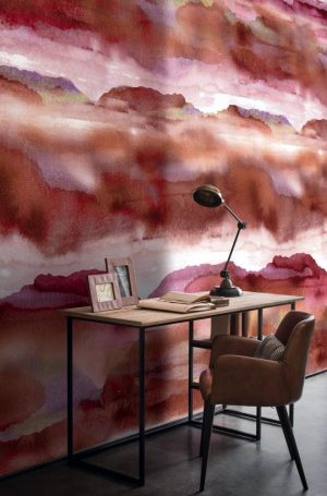 Casamance panoramic wallpaper panel Iron grenade