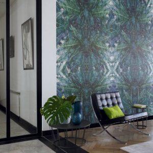 Casamance panoramic wallpaper panel Jungle Silk