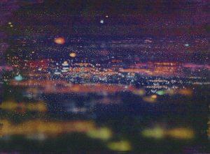 Casamance panoramic wallpaper panel La Ville Lumiere