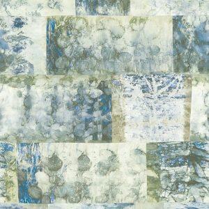 Casamance panoramic wallpaper panel L-Estampille blue