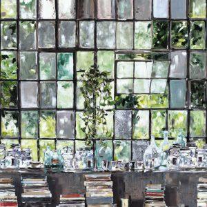 Casamance panoramic wallpaper panel Loft Stories multi