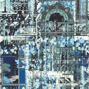 Casamance panoramic wallpaper panel Lotus Blue