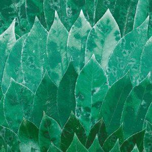 Casamance panoramic wallpaper panel Mana Inala vert