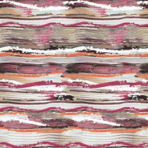 Casamance panoramic wallpaper panel Socorro rouge