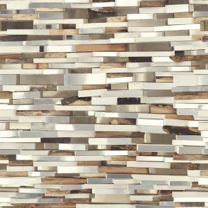 Casamance panoramic wallpaper panel Tetriminos gris