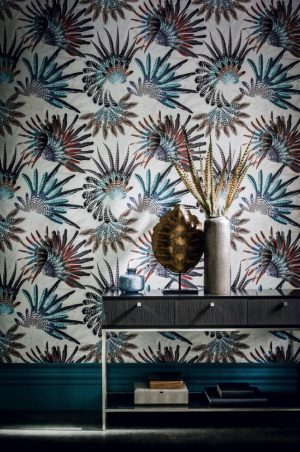 Casamance wallpaper Touraco Panoramique celedon