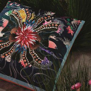 Christian Lacroix cushion Ocean Blooms Ruisseau