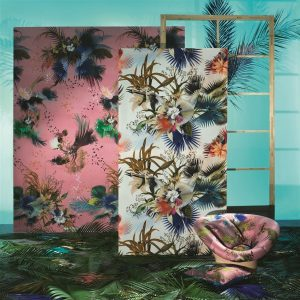 Christian Lacroix wallpaper panel Oiseau Fleur Bourgeon