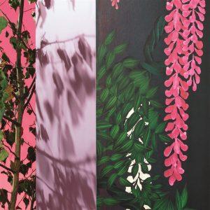 Christian Lacroix wallpaper panel Wisteria Alba Magenta