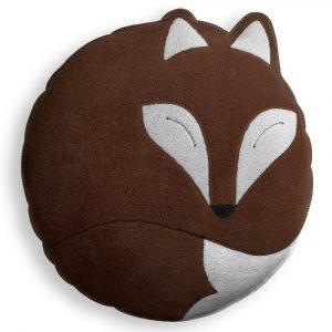 Leschi cuddly cushion Paco the Fox chocolate
