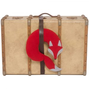 Leschi travel neck pillow Peter the Fox red