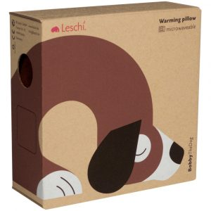 Leschi warming neck pillow Bobby the Dog sand brown