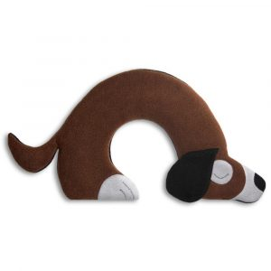 Leschi warming neck pillow Bobby the Dog dark brown
