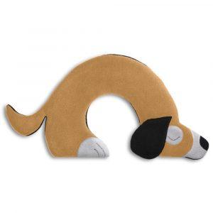 Leschi warming neck pillow Bobby the Dog sand brown