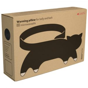 Leschi warming body wrap pillow Coco the Cat midnight