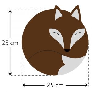 Leschi warming pillow Luca the Fox chocolate