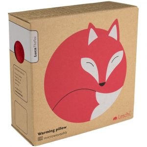 Leschi warming pillow Luca the Fox red