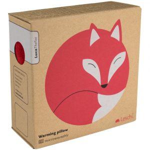 Leschi warming pillow Luca the Fox red