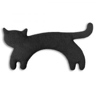 Leschi warming neck pillow Minina the Cat black