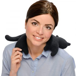 Leschi warming neck pillow Minina the Cat black