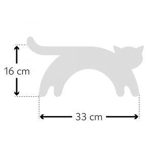 Leschi warming neck pillow Minina the Cat grey