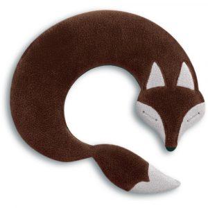 Leschi warming neck pillow Noah the Fox chocolate