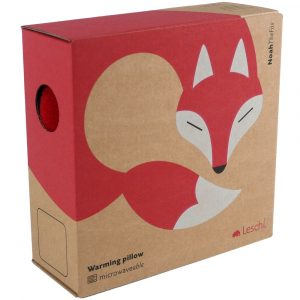 Leschi warming neck pillow Noah the Fox red