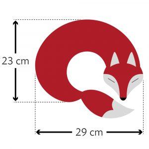 Leschi warming neck pillow Noah the Fox red