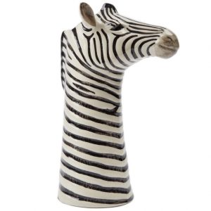 Quail Ceramics flower vase Zebra