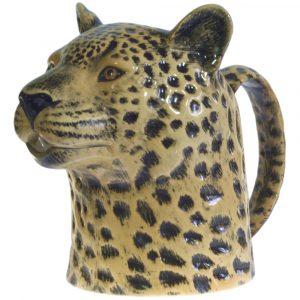 Quail Ceramics jug Leopard