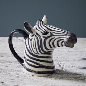 Quail Ceramics jug Zebra