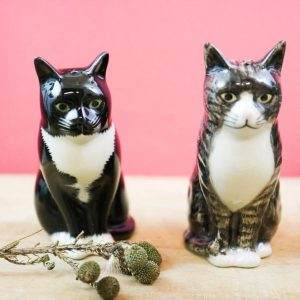 Quail Ceramics salt and pepper cats Millie and Julius