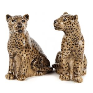 Quail Ceramics salt and pepper set Leopards