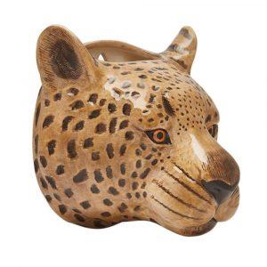 Quail Ceramics wall vase Leopard